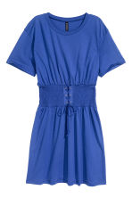 T-shirt dress with lacing - Bright blue - Ladies | H&M 2